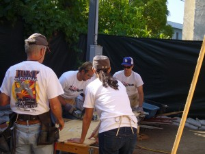 Brad Jamison volunteering with Habitat for Humanity
